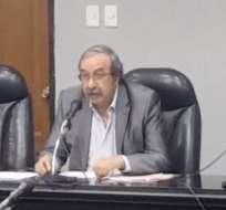 El presidente Galo Sánchez aseguró que el expediente nunca fue devuelto a la comisión. Foto: Captura de pantalla