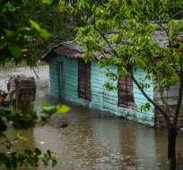 1.384 viviendas resultaron afectadas y 174 de ellas se derrumbaron. Foto: AFP