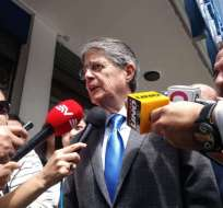 QUITO, Ecuador.- El líder del movimiento CREO se reunió con el titular del CPCCS, Julio César Trujillo. Foto: API