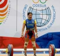 COCHABAMBA, Ecuador.- Alexandra Escobar se consagró campeona sudamericana en los 58 kg. Foto: COE