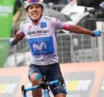 El ciclista ecuatoriano es considerado la revelación del Giro de Italia 2018. Foto: AFP