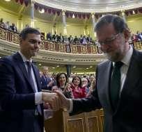 ESPAÑA.- Pedro Sánchez reunió el apoyo de una mayoría de diputados (180 de 350). Foto: AFP