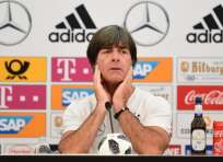 El entrenador dio una rueda de prensa en la concentración de Alemania en Italia. Foto: MIGUEL MEDINA / AFP
