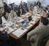 La ministra de Industrias, Eva García, explicó en Asamblea proyecto del Ejecutivo. Foto: Twitter Asamblea