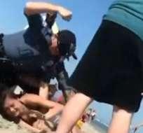Video sobre incidente policial causó indignación en redes.