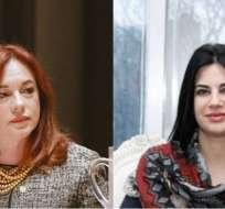 María Fernanda Espinosa y  Mary Elizabeth Flores se disputan la presidencia de la ONU. Foto: Collage Ecuavisa.