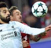 Salah se lesionó el hombro en la final de la Champions League contra Real Madrid. Foto: AFP