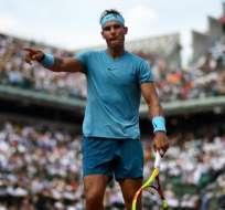 PARÍS, Francia.- El español consiguió elevar a 37 su racha de sets seguidos ganados en Roland Garros. Foto: AFP