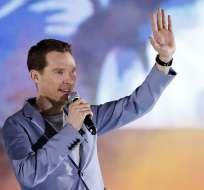 La firma de entrega de alimentos Deliveroo agradeció a Benedict Cumberbatch. Foto: AP.