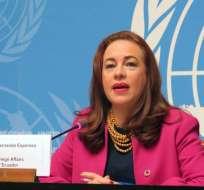 EE.UU.- Con 128 votos, la canciller de Ecuador gana la presidencia de la Asamblea General de ONU. Foto: Archivo