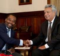 Jefe de Estado se reunió con presidente de la Corte Penal Internacional, Chile Eboe-Osuji. Foto: Secom