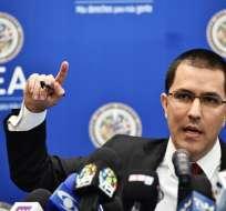 El Ministro de Relaciones Exteriores de Venezuela, Jorge Arreaza. Foto: AFP