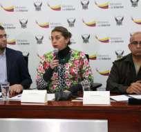 Viceministra Liliana Guzmán en rueda de prensa en la que informó sobre la muerte de los PPL. Foto: Twitter Justicia.