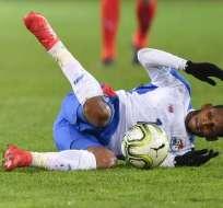 Alberto Quintero se fracturó el segundo metatarsiano del pie derecho. Foto: Fabrice COFFRINI / AFP