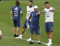 La selección 'albiceleste' tenía planificado jugar el partido el 9 de junio. Foto: PAU BARRENA / AFP