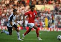 Marcus Rashford marcó el primer gol del elenco europeo. Foto: Paul ELLIS / AFP