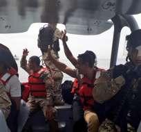 Ellos se encontraban en aguas internacionales cuando tuvieron problemas con el motor. - Foto: SENAN