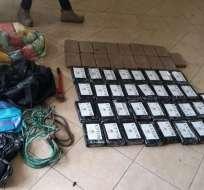 Capturado pretendía pasar droga a embarcación que zarpó a España desde Terminal Marítimo. Foto: Ministerio Interior