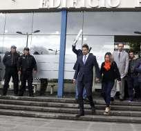 Durante enlace transmitido desde Bélgica, criticó la administración de Lenín Moreno. Foto: Archivo API