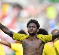 Neymar se muestra listo para el Mundial. Foto: AFP