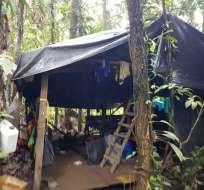 El complejo de clorhidrato de cocaína estaba ubicado en Nariño, frontera con Ecuador. Foto: Fuerzas Militares Colombia