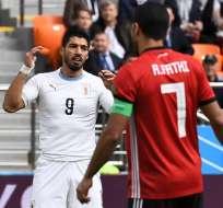 EKATERIMBURGO, Rusia.- Luis Suárez durante su actuación frente a Egipto. Foto: AFP