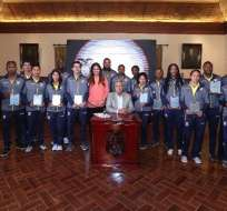 Presidente Moreno anuncia la creación de la Secretaría del Deporte. Foto: Presidencia Ecuador.