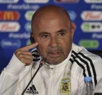El entrenador dio una rueda de prensa a un día del partido. Foto: YURI CORTEZ / AFP