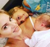 ¡Llegó Martina! Marcela Ruete es mamá por tercera vez. Foto: Instagram