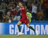 El delantero portugués hizo un triplete ante España y fue la figura. Foto: Odd ANDERSEN / AFP