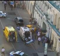 La causa del accidente fue la pérdida de control del coche. Foto: Twitter