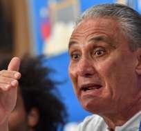 El entrenador brasileño habló en rueda de prensa a un día del duelo ante Suiza. Foto: PASCAL GUYOT / AFP