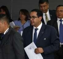 QUITO, Ecuador.- El fiscal encargado Paúl Pérez pide, además, protección para Balda y su familia. Foto: API