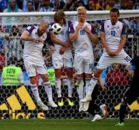 Los islandeses dieron una de las sorpresas del Mundial al empatar con Argentina. Foto: Alexander NEMENOV / AFP