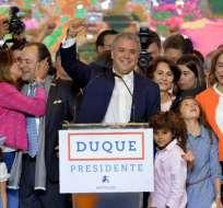 Duque, que asumirá el 7 de agosto, será el presidente más joven y más votado de la historia colombiana. Foto: AFP