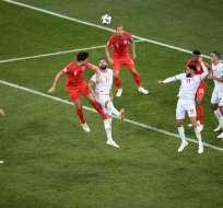 VOLGOGRADO, Rusia.- Con un doblete de Harry Kane, Inglaterra superó en los últimos minutos a Túnez 2-1. Foto: AFP