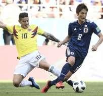 SARANSK, Rusia.- James Rodríguez jugó durante los último 30 minutos del partido. Foto: AFP
