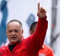 CARACAS, Venezuela.- El dirigente chavista dirigió por dos períodos el Parlamento hasta 2015. Foto: AFP.