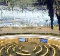 Sala de Derechos Humanos de la sede europea de de la ONU en Ginebra, Suiza. Foto: AP.
