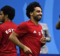 El delantero egipcio se recuperó de una lesión en el hombro izquierdo. Foto: CHRISTOPHE SIMON / AFP