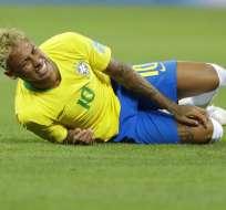 El delantero brasileño solo estuvo 15 minutos en la práctica de este martes. Foto: AP Foto/Andre Penner