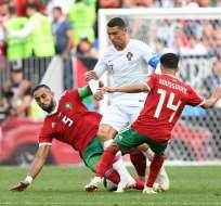MOSCÚ, Rusia.- Ronaldo anotó de cabezazo el único gol del cotejo. Foto: AFP