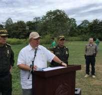 COLOMBIA.- Ministro de Defensa instó a esperar resultados de las pericias forenses para confirmación. Foto: Twitter