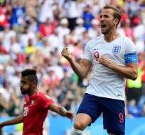 NIZHNI NÓVGOROD, Rusia.- Harry Kane anotó tres goles en este partido y se convierte en el máximo goleador del torneo. Foto: AFP