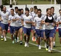 El equipo argentino necesita una victoria y una derrota de Islandia para clasificar. Foto: JUAN MABROMATA / AFP