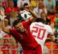 Los 'lusos' empataron 1-1 con Irán y quedaron detrás de España en el grupo B. Foto: Jack GUEZ / AFP