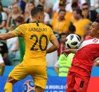 SOCHI, Rusia.- Los peruanos no ganaban un partido en un Mundial desde hace 40 años. Foto: AFP