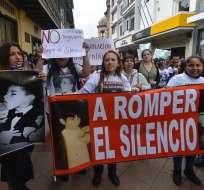 Manifestación en contra del abuso sexual en Cuenca. Foto: Archivo/API.