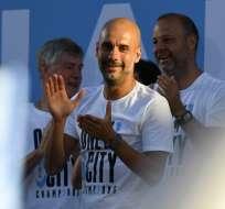 El entrenador español tiene contrato con el Manchetser City hasta 2021. Foto: Paul ELLIS / AFP