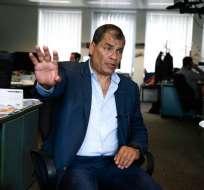 Economista de 55 años, Correa dejó el gobierno en mayo de 2017. Foto: AFP.